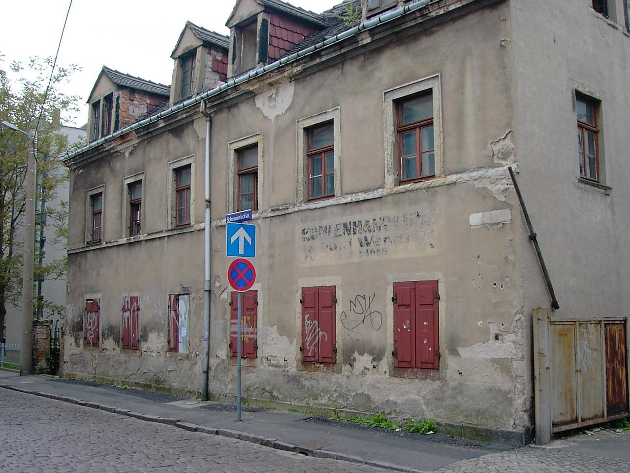 Das Bild zeigt das Haus eines Kohlenhändlers.