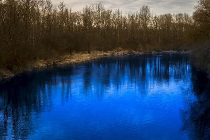 Novelle des Schweizer Nationaldichters C.F. Ramuz - das Bild zeigt einen Fluss